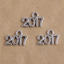 20Pcs Tibetan Silver 2017 Charms/Pendants 16mm 1A1958