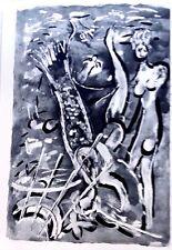 Marc Chagall offset lithograph Bible  paris maeght 1960 original  2 sided 123