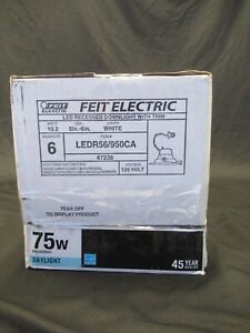 """Feit Electric 5-6"""" LED Retrofit Recessed Downlight with Trim- Lot of 6 EA"""