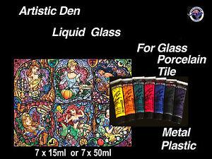 Stained Glass Paint Porcelain Paint Glass Paint Tile Paint Gold Glass & Silver