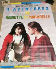 CINEMA AFFICHE FILM ERIC ROHMER 4 AVENTURES DE REINETTE ET MIRABELLE 1986 120X16
