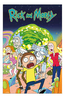 Rick And Morty Group Poster New - Maxi Size 36 x 24 Inch