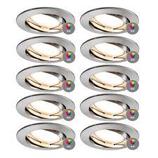 10x Paulmann 938.42 SMART HOME Einbauleuchte Coin LED 2,4W Eisen geb. App-Steuer