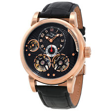 Lucien Piccard Cosmos Automatic Black Dial Mens Watch 15071A-RG-01-W