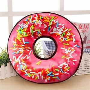 Doughnut Cushion Pillow Velvet Donut Sofa Pillow Birthday Gifts Home Décor 14""