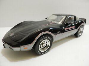 "1978 CORVETTE 25TH ANNIVERSARY INDY PACE CAR 1/12 SCALE BEAM CAST PORCELAIN 15"""