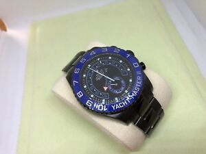 Rolex Yacht-Master II Stainless Steel Black DLC/PVD Ceramic Bezel Watch 116680