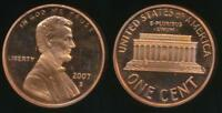 United States, 2007-S One Cent, 1c, Lincoln Memorial - Proof