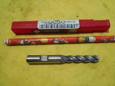 """NEW CLEVELAND USA HSS END MILL milling cutter 4 flute 3/8"""" shank x 5/16"""" dia"""