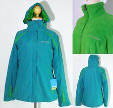 5071 Columbia Interchange 3 in 1 Parka Winter Coat Jacket Ski Mint Green Women M