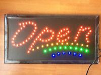 Flashing   LED OPEN 3L Shop Sign Neon Display Window Hanging Light