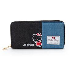 Hello Kitty Sanrio wallet Purse long Denim Japan Kawaii New Cute Free shipping
