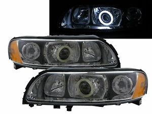 S60 MK1 2004-2009 Sedan 4D COB Projector Headlight Black for VOLVO LHD