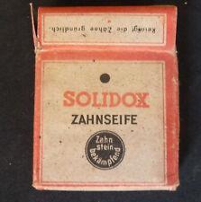 Dentifrice Allemand SOLIDOX ZAHNSEIFE d'époque WW2 Wehrmacht.