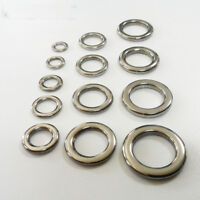 30 pcs Heavy Duty Stainless Steel Solid Ring Fishing Ring Jigging Ring S-XXL