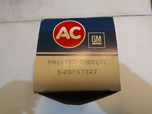 NOS GM PRINTED CIRCUIT 25017327 78-80 CHEVY TRUCK W/ GAUGES + TACH