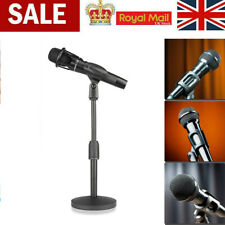 Foldable Desk Table Microphone Clip Stand Table Mic Adjustable Holder Stable Mic