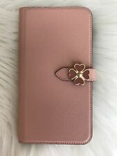 New Kate Spade iPhone XR Rosy cheeks Flower Hardware Wrap Folio Case Cute Gift