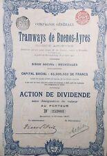 Tramway Argentine 1907 Buenos Ayres Action Bruxelles Belgique Amérique Latine