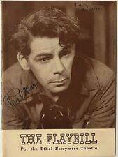 "*Rare* PAUL MUNI Signed 1939 ""Key Largo"" Playbill with Ticket Stub - JSA LOA"