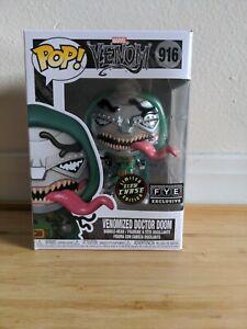 Funko POP! Venom Venomized Doctor Doom SE GITD Chase #916 w/Box Protector