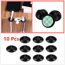 10Pcs Black fixed clamp,The cord organizers are made of SOFT and FLEX material.