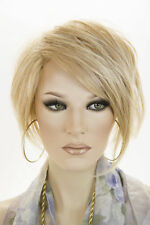 Strawberry Tipped Pale Blonde Blonde Short Lace Front Jon Renau Straight Wigs