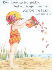 Don'T Grow Up Too Quickly-Handcrafted Beach Magnet-Using art by Mary Engelbreit