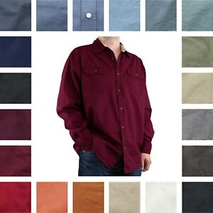 Wrangler Premium Men's Regular Fit Long Sleeve Button-Up Twill Casual Shirt