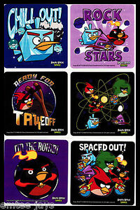 Angry Birds Space Stickers x 6 - Favours - Birthday Supplies - Loot Bag - Movie