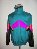2x vintage 80`s ALEX Athletics Nylon Jacke glanz Trainingsjacke oldschool M (L)