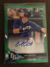 2018 bowman Carl Chester Tampa Rays 1st Bowman Green Paper /99 Auto Autograph