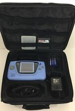 Sega Game Gear LIMITED SKY BLUE Clean Tested New Caps + Screen + Case + Sonic 2