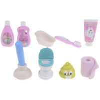 4pcs/set Kawaii bathroom set eraser school office rubber eraser stationery VQTDS