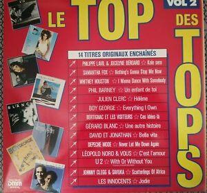 Le Top Des Tops 2 Compil 1987 LP 33T 33 Tours Depeche Mode Whitney Clegg U2 Fox