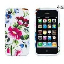 Red Flower Skin TPU Soft Phone Cover Case Accessories For Apple Iphone 4GS 4G 4S