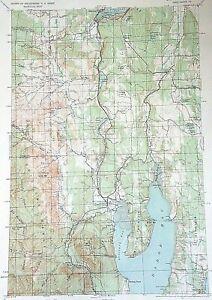 1940 Quilcene Quadrangle Washington WA USGS Army Corps Topo Tactical Vtg Map