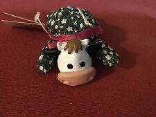 "Russ TEENY BEENIES COW 4"" Plush Stuffed Animal Clay Head  NEW"