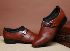 Men Business Dress Formal Leather Shoes Flat Oxfords Loafers pointy toe Shoes 48