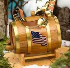 Saint Bernard Keg 4th of July Sleigh Bell Collar American Flag St Barrel Party
