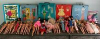 Huge Mattel Barbie dolls Plus Some Other Brands Lot of Dolls, Cases, And Clothes