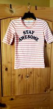 Old Navy Striped Stay Awesome  3/4 sleeve Girl's top XL/14