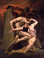 ADOLPHE BOUGUEREAU DANTE VIRGIL IN HELL OLD ART PAINTING PRINT 12x16 inch 3114OM