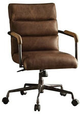 Acme Furniture Harith Top Grain Leather Office Chair in Retro Brown