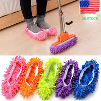 2Pc Dust Mop Slipper Lazy Floor Polishing Clean Easy Foot Shoes Sock Shoes Cover