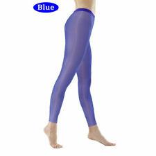 Lady Sexy Oil Shiny Glossy Sheer Transparent Leggings Club Dance Pants Nightwear