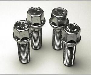 4 Wheel Bolts Nuts Lugs for VW GOLF MK5 (5 Bolt) M14x1.5, 27mm,17 Hex. LS17D27F