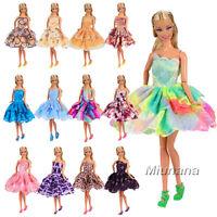 Miunana 5 Abiti Vestiti Selezionati a caso Stile Festa Per Barbie Bambola