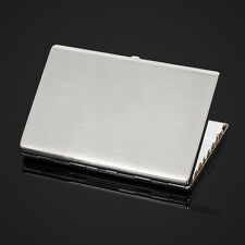 Ultra-thin Stainless Steel Metal Cigarette Case Holder Box for 100's Cigarettes