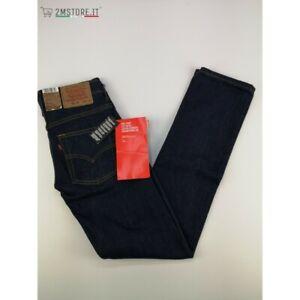 LEVI'S Jeans Languette Rouge Levis 514 Bleu Indigo Skinny Original Casual Style